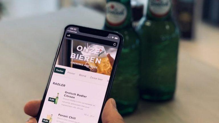 Grolsch digitale bierkaart
